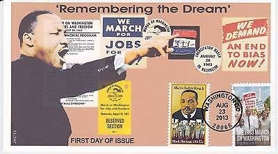 Jvc Cachets -2013 March On Washington Issue #3 First Day Cover Fdc Martin L King