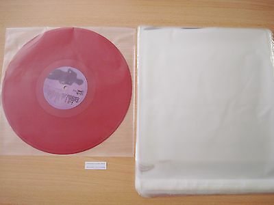 "100 Clear Cello Bags 310x310mm Plastic Record LP Sleeve 12"" FREE POSTAGE"