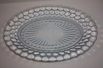 Blue Bubble Oval Platter