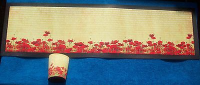 Poppy Bar Runner - Rubber Backed Mat New Remembrance Day