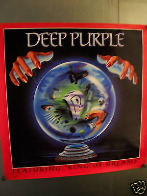 DEEP PURPLE Large PROMO POSTER Slaves Masters perfect condition FREE SHIP USA