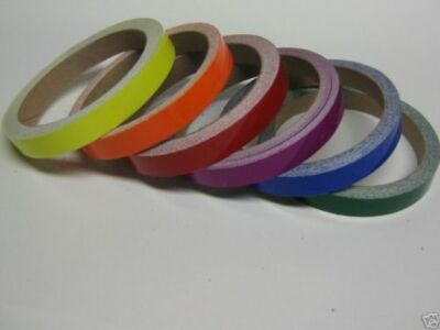 "Any 2 Colors of Colored Plastic Vinyl Tape,  1/4"" x 50 Feet total, Glossy Tape"