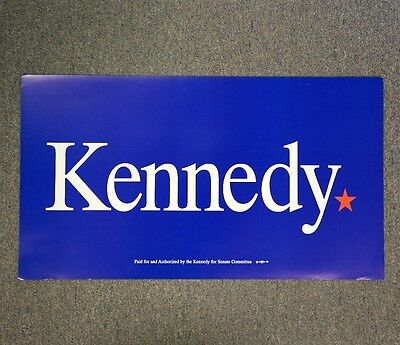 Edward Kennedy For Senate Campaign Poster