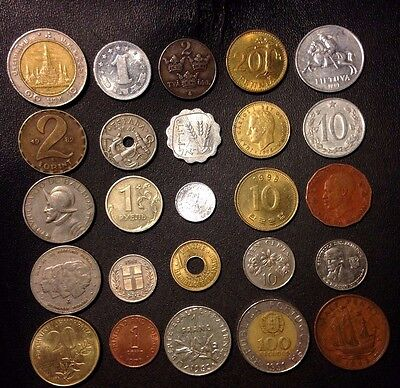 Coins of the World - 25 Coins from 25 Nations - High Quality - Excellent Variety