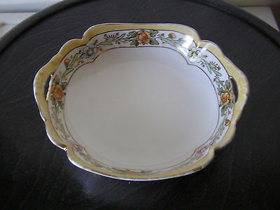 Rising Sun backmarked Nippon bowl/dish pierced handles, hand painted, vintage