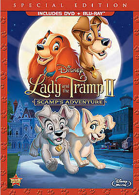 Lady and the Tramp II: Scamp's Adventure (Blu-ray/DVD) Disney sealed