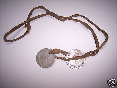 WWI US Military GI Dog Tags Soldier Doughboy