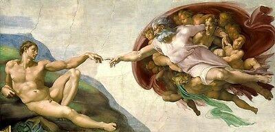 The Creation Of Adam The Sistine Chapel Fresco Painting By Michelangelo Repro