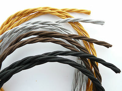 Vintage Electrical Cable/flex/wire/cord For Old Antique Telephone/radio/ Fan/amp