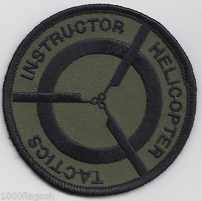 Helicopter Tactics Instructor Subdued US Air Force Embroidered Badge Patch