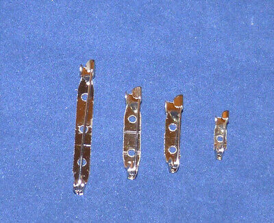 20/50 Silver Tone Bar Brooch Clasps --16/20/30/45Mm-- #crafts/jewellery Making