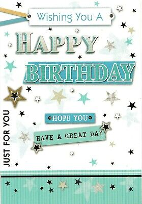 male open happy birthday card general birthday greeting - 4 cards to choose from