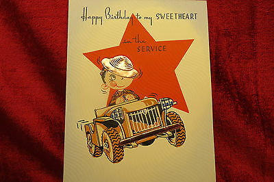 Vintage Ww2 Greeting Card Never Used