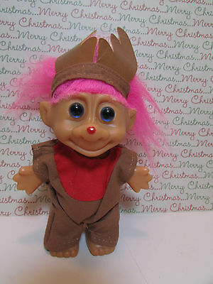 "CHRISTMAS REINDEER  - 5"" O.T.C.  Troll Doll - NEW IN ORIGINAL WRAPPER - Rare"