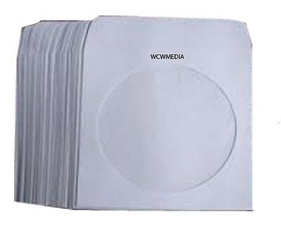 Serena CD / DVD Paper Sleeves With clear window Foldable flap - 50 Pack