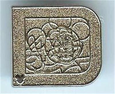 MICKEY CHASER SILVER LETTER CLASSIC D Hidden Mickey 2011 WDW DISNEY PIN