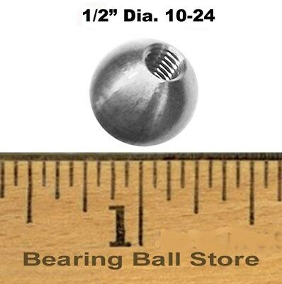 "Five 1/2"" dia.  threaded 10-24 aluminum balls  knobs"