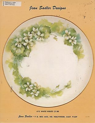White Violets #72 by Jean Sadler  China Painting Study 1975