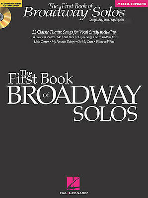 The First Book Of Broadway Solos : 22 Theatre Songs - Mezzo-Soprano Vocal Book!