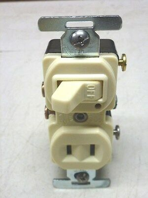 NOS! (10) Eagle SINGLE POLE SWITCH w/ PILOT LIGHT & RECEPT, #272, BROWN or IVORY
