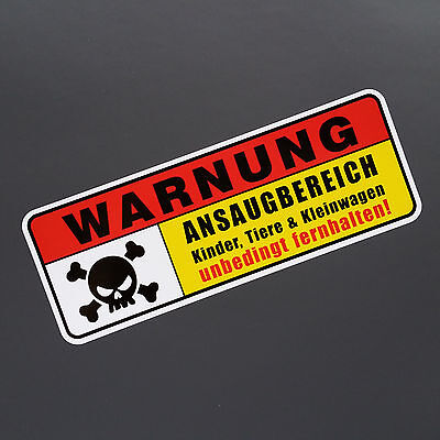 Ansaugbereich Tuning Auto Aufkleber Sticker Shocker JDM OEM Scooter Fun dapper