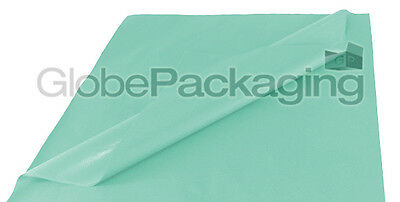 50 SHEETS OF BABY BLUE COLOURED ACID FREE TISSUE PAPER 500 x 750mm HIGH QUALITY