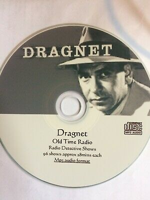 Dragnet - Old Time Radio show Mp3 CD for iPd, iPod, iPhone, kindle