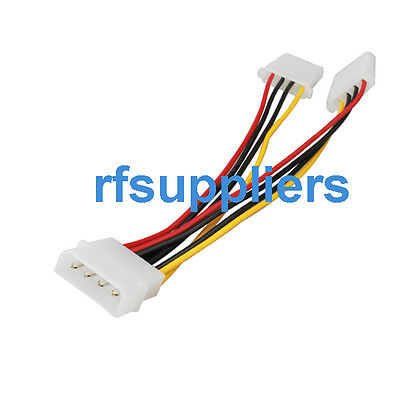 5pcs IDE Hard Drive 4-pin Power Cable Lead 1 to 2 Y-Splitter approx.15cm