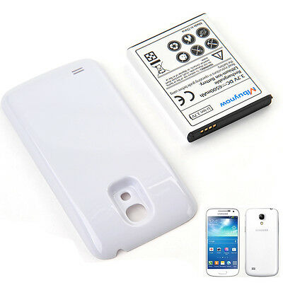6500mAh Extended Battery with White Shell For Samsung Galaxy S4 mini GT-i9190