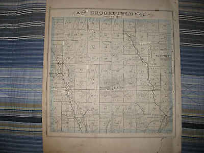 Antique 1875 Brookfield Johnston Township Trumbull County Ohio Map