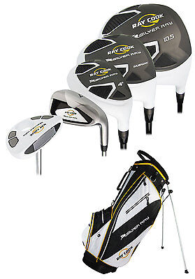 New Ray Cook Golf Silver Ray Mens Complete Set With Bag PVD Finish