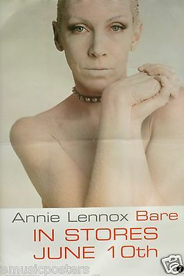 "ANNIE LENNOX ""BARE"" U.S. PROMO MUSIC POSTER -The Eurythmics"