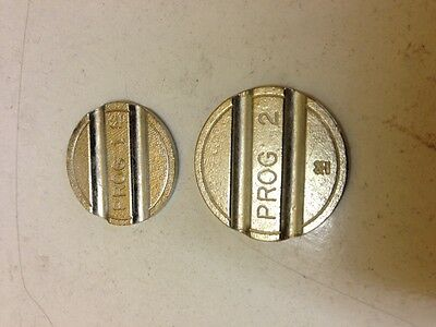 1 To 6 Programme  Tokens  --Jet Wash-High Security 50 Vending-Coin Ops