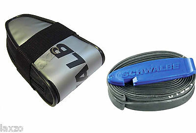 Schwalbe Race Saddlebag with SV15 inner Tube & Tyre Levers Bike Cycle Bicycle