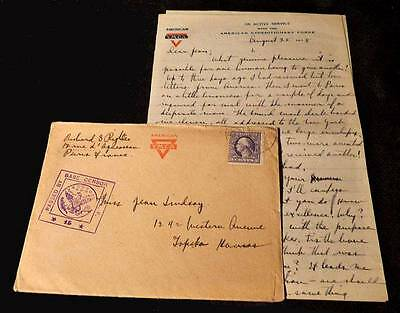 Civilian Mail from the YMCA Headquarters in Paris during WWI