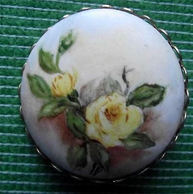 Vintage  Glasgow Girl Handpainted Porcelain Brooch