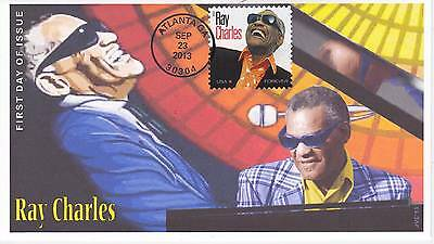 Jvc Cachets - 2013 Ray Charles First Day Cover Fdc - Atlanta, Ga Cancel #2