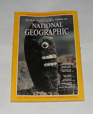 National Geographic Magazine December 1980 - Tenochtitlan/portugal/jackals
