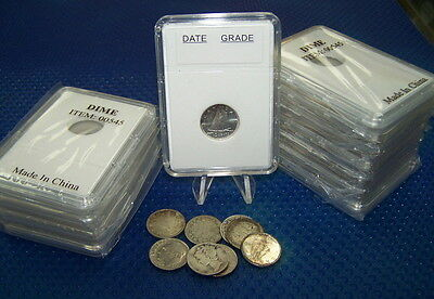 10 Coin Holders Slab Style for ** CAD/Nfdl 10 cents-- size 18 mm*