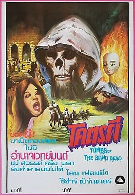 Tombs of the Blind Dead 1971 Thai HORROR Movie Poster