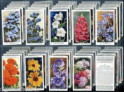 Tobacco Card Set, WD & HO Wills, GARDEN FLOWER Pictures SUDELL, 1939