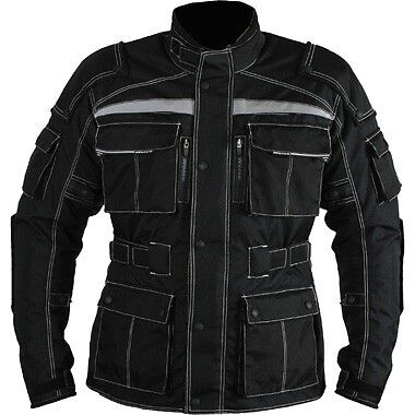 Men's Cordura Line Armour Waterproof Motorbike Motorcycle Jacket Collection