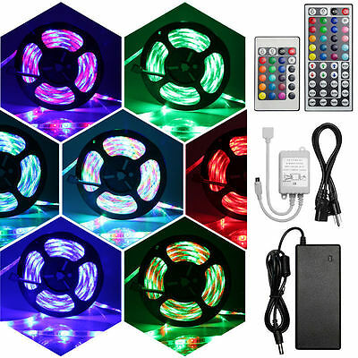 5M 10M 15M 20M RGB LED Multi-color magic dream color waterproof light strip +psu
