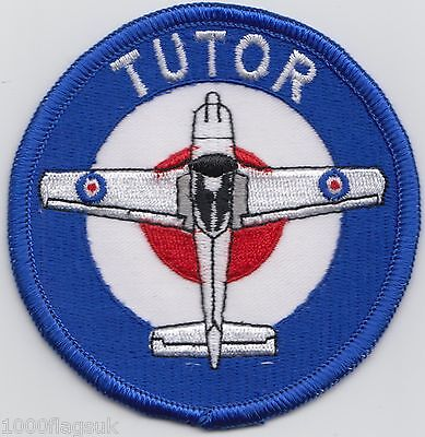 RAF Royal Air Force Tutor Embroidered Crest Badge Patch