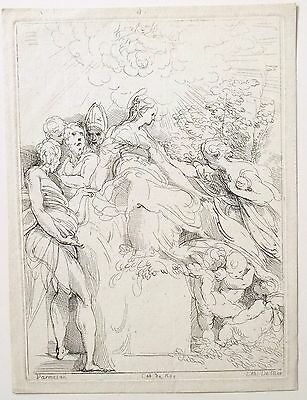 Jean Antoine de Maroulle (French) after Parmigianino (Italian) rare etching 1725