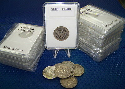 10 Coin Holders Slab Style ** for US Quarter size --- 24 mm**