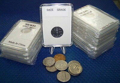 10 Coin Holders Slab Style *for CAD 5 Cents Nickel --- 21 mm**