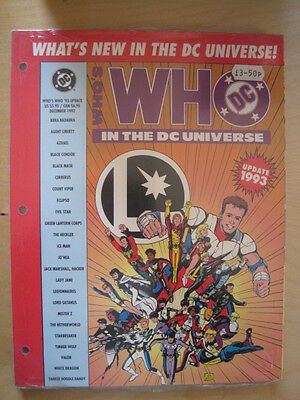 WHO'S WHO IN THE DC UNIVERSE update 1993.NEW ART,ENTRIES IN A4 LOOSE LEAF FORMAT