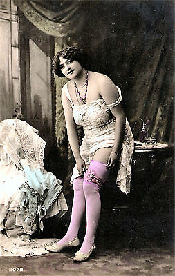 A4 Vintage 1920's Art Deco Pretty Nude Girls ..Victorian/Edwardian Beauties 240