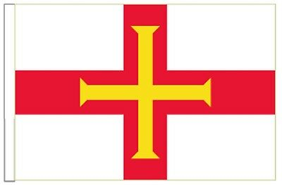 Guernsey Channel Islands Sleeved Courtesy Flag ideal for Boats 45cm x 30cm